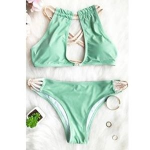 Cupshe Peppermint Wind Bikini Set